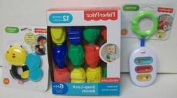 Fisher Price 3 Baby Toys Xylo Rattle, Snap Lock Beads, Bee T