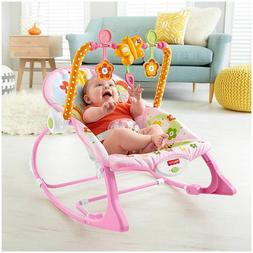 Fisher-Price Infant To Toddler Rocker Pink Fun Bouncers Vibr