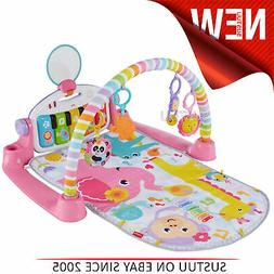Fisher-Price Kick and Play Piano Pink Gym│5 Activity Toys,