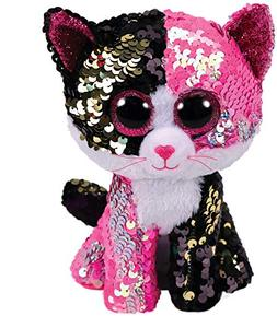 """Ty Flippables Malibu - The Pink/Black Sequin Cat- 6"""""""