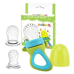 Zooawa Baby Food Feeder, Soft Silicone Mesh Fruit & Food Fee