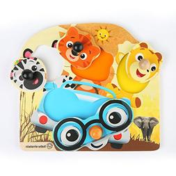 Baby Einstein Friendly Safari Faces Wooden Puzzle Toddler To