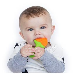 Nuby Fruity Chews Straight Handle Teether, Styles May Vary