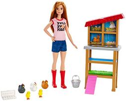 Barbie FXP15 Chicken Farmer Doll & Playset, Multicolor