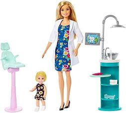 Barbie FXP16 Dentist Doll & Playset Blonde, Multicolor
