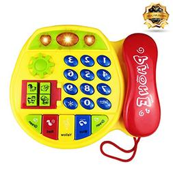Gift for 12-24 Months Girl Baby, Phone Toy for 2-3 Year Old