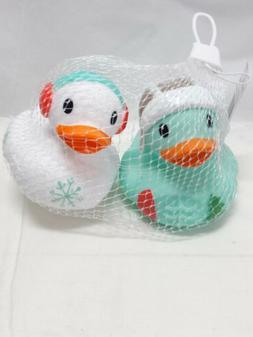 Infantino Go Gaga Christmas Holiday Rubber Duckie Ducks Bath