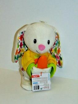 Infantino Go Gaga Spring Pal -Plush Bunny w/Textured Carrot