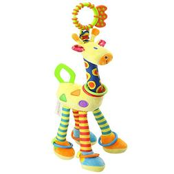 FOREAST Kids Handbells Rattles Toy Baby Soft Plush Toys Deve