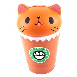 Bokeley Happy Easter 1PC 14cm Cut Cappuccino Coffee Cup Cat