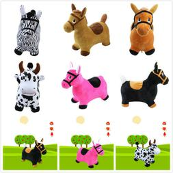 Hopping Horse Outdoors Ride On Bouncy Animal Play Toys Infla