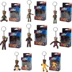 Hot Baby Groots Keychain Pendant Guardians of Galaxy Dancing