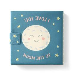 I Love You To The Moon Blue Star 7 x 7 Fabric Children's Bas