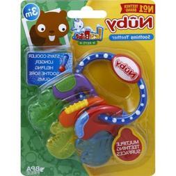 Nuby Ice Gel Baby Teether Toy Soft Teething Keys Soothing Bi