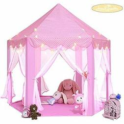 MonoBeach Kids Indoor Princess Castle Play tent, 5553 inches