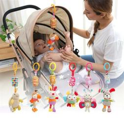 Infant Bed Stroller Rattle Plush Baby Mobile Toy for Kids Ri