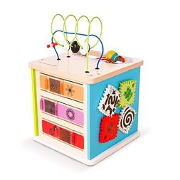 Baby Einstein Innovation Station Wooden Activity Cube Toddle