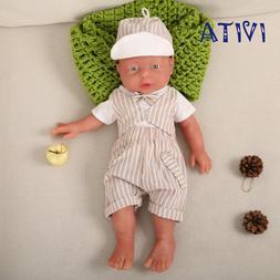 "IVITA 16"" Full Body Organic Silicone Filled Soft Girl Doll N"