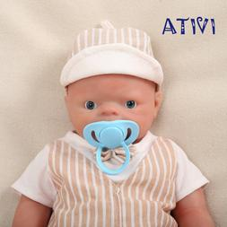 IVITA 18'' Lifelike Silicone Reborn Dolls Baby Boy Xmas Gift