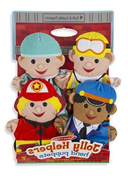 Melissa & Doug Jolly Helpers Hand Puppets  - Construction Wo