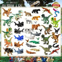 Jurassic World Minifigures T-Rex Crocodile Animal Dinosaurs