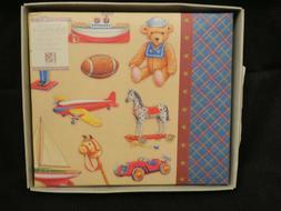 "K & Company 6"" x 6"" Toys Baby Boy Scrapbook Album - NEW"