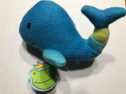 Rich Frog K'NIT Sea Creatures Whale Stuffed Animal, Hand Kni
