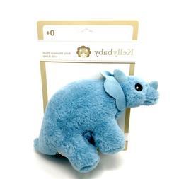 Kelly Baby Plush Dinosaur Rattle Blue Triceratops KellyBaby