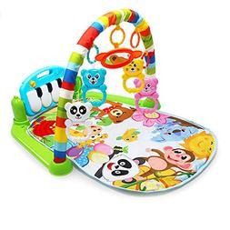 YUIOP Baby Kick 'n Play Piano Gym, Infants Newborn Mat with