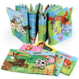 Kid Baby Intelligence Development Soft Cloth Cognize Books E
