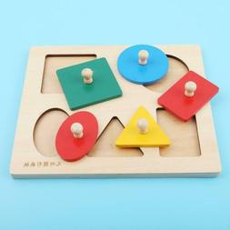 Kids Baby Wooden Learning Geometry Educational Toys Baby Acc