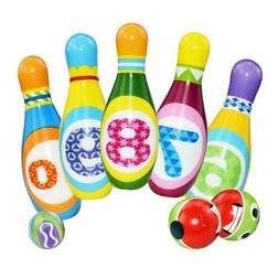 Kids Bowling Play Set Toddler Toys Birthday Gift for 2,3,4,5
