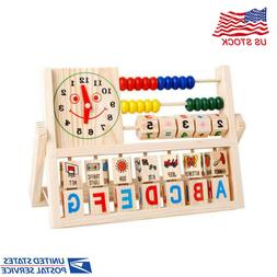 Kids Boy Girl Baby Wooden Abacus Learning Early Educational