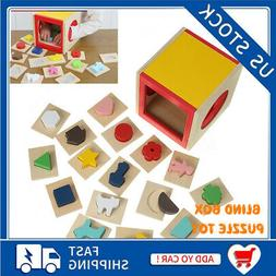 Kids Memory Training Blind Box Color Cube Puzzle Box Wooden