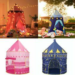 Kids Play Tent Folding Portable Prince Princess Baby Play Ho