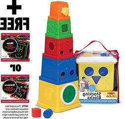 K's Kids Stacking Blocks + FREE Melissa & Doug Scratch Art M