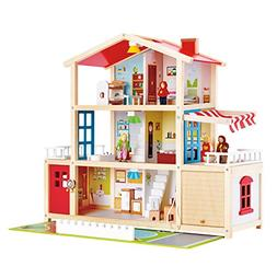Hape Kids Wooden Doll Family Mansion with Accessories