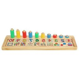 Kids Wooden Learn To Count Numbers Digital Shape Match Math