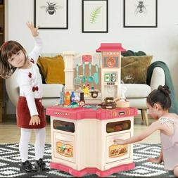 Kitchen Play Set Pretend Baker Kids Toy Cooking Playset Food