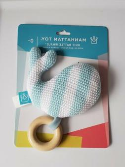 Manhattan Toy Knit Teether/Rattle Whale Activity Toy- Ages 0