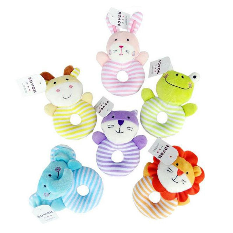 0-1 Years Rattle Gift Plush Bell Toys