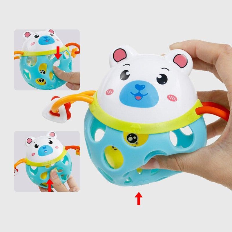 0-12 Months <font><b>toy</b></font> Plastic Animal Shake <font><b>Toy</b></font> Educational Gift for Newborns