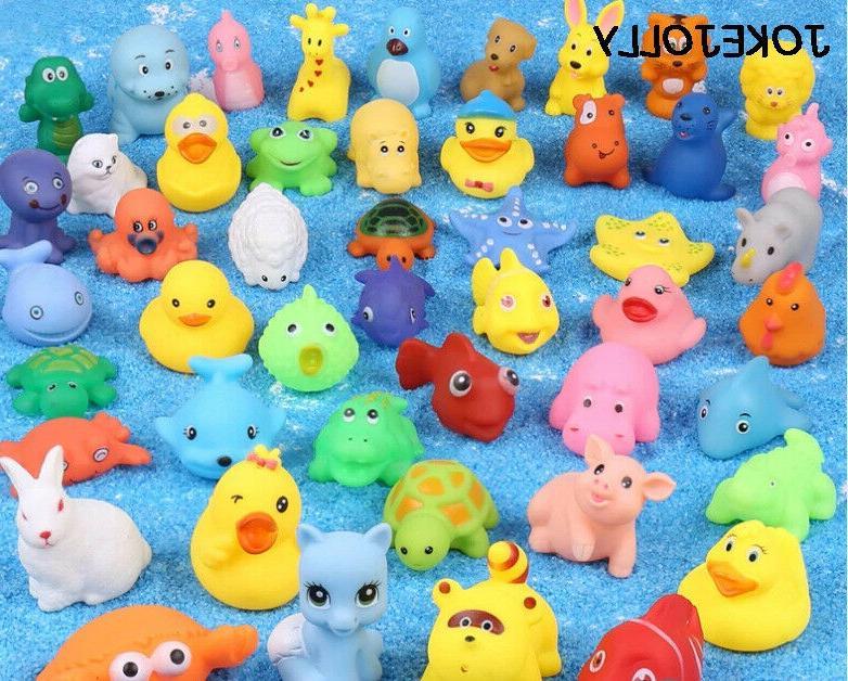 toys soft rubber squeezable float animals bathroom swim