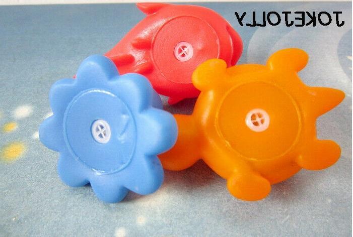 10 toys squeezable float animals bathroom swim