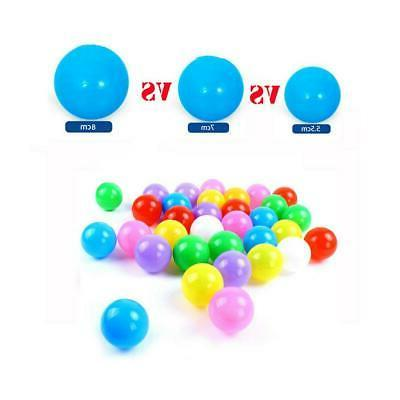 200Pcs 5.5/7/8cm Ocean Soft Kids Pool Toys