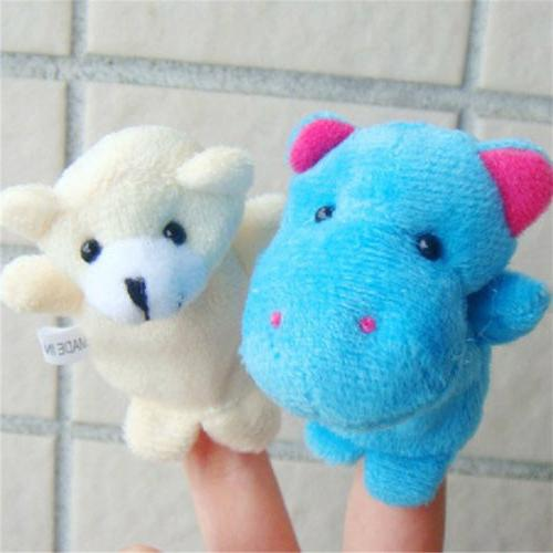 10Pcs/Pack Finger Animal Puppets Plush