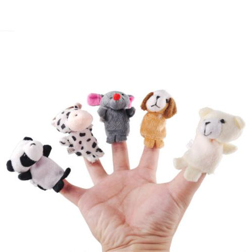 10Pcs/Pack Kids Finger Animal Puppets Cloth