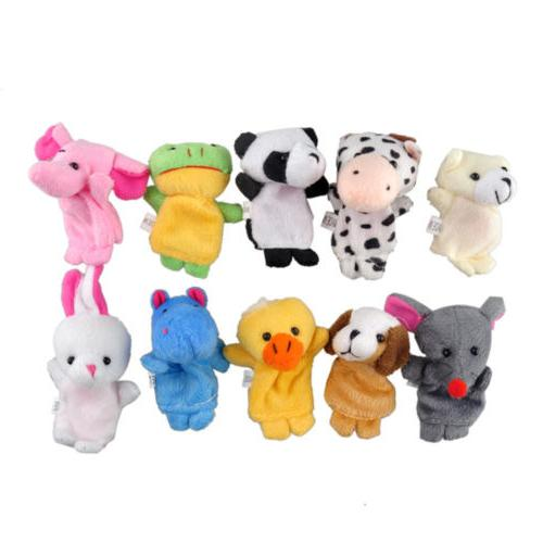 10Pcs/Pack Animal Educational Story Puppets