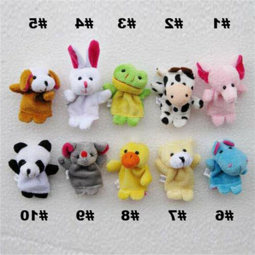 10Pcs/Pack Finger Animal Toys Puppets Plush