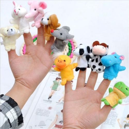 10pcs pack baby kids finger animal educational